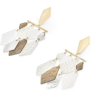NWT Kendra Scott Hanna Earrings in Ivory Mix!!